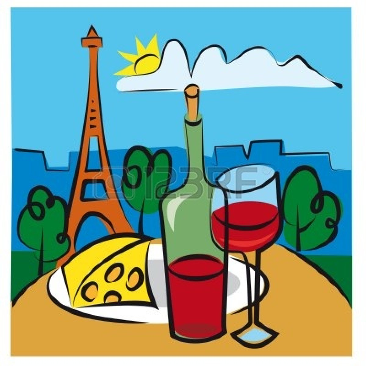 1200x1200 French Cheese Clipart