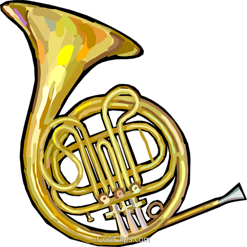 480x480 French Horn Royalty Free Vector Clip Art Illustration Vc024882
