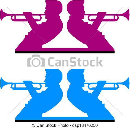 450x441 Playing Horn Clipart Vector
