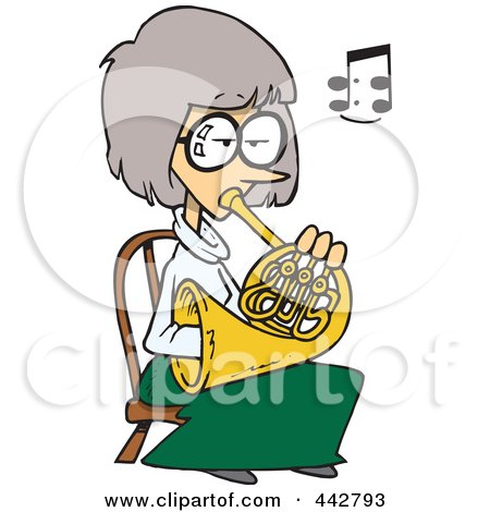 450x470 Royalty Free (Rf) Clip Art Illustration Of A Cartoon Woman Playing