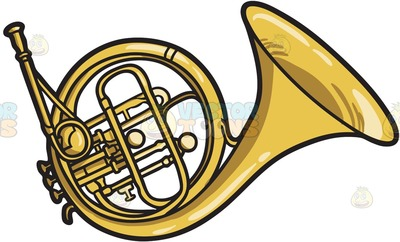 400x242 French Horn Clipart