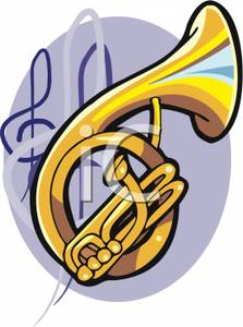 223x300 Clipart Image A French Horn With Music Notes