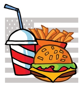 288x300 Hamburger And French Fries Clipart