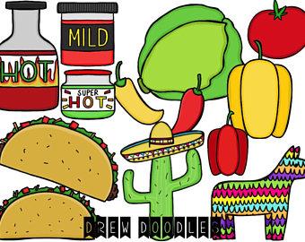 340x270 Frida Kahlo Digital Clip Art Set Instant Download