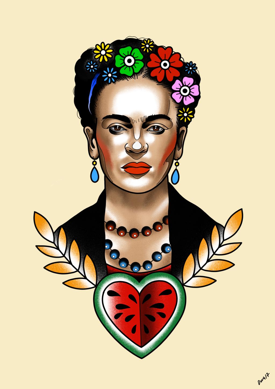 1024x1448 Frida Kahlo By Dougietattoo