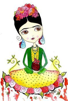 236x348 Frida Kahlo Clipart Instant Download Png , Jpeg File 300 Dpi