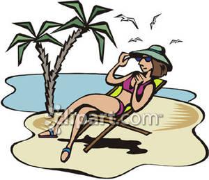 300x259 Sun Bathing Clipart