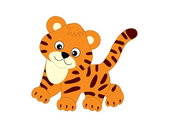 570x428 Tigres Clipart Realistic Cartoon'94530