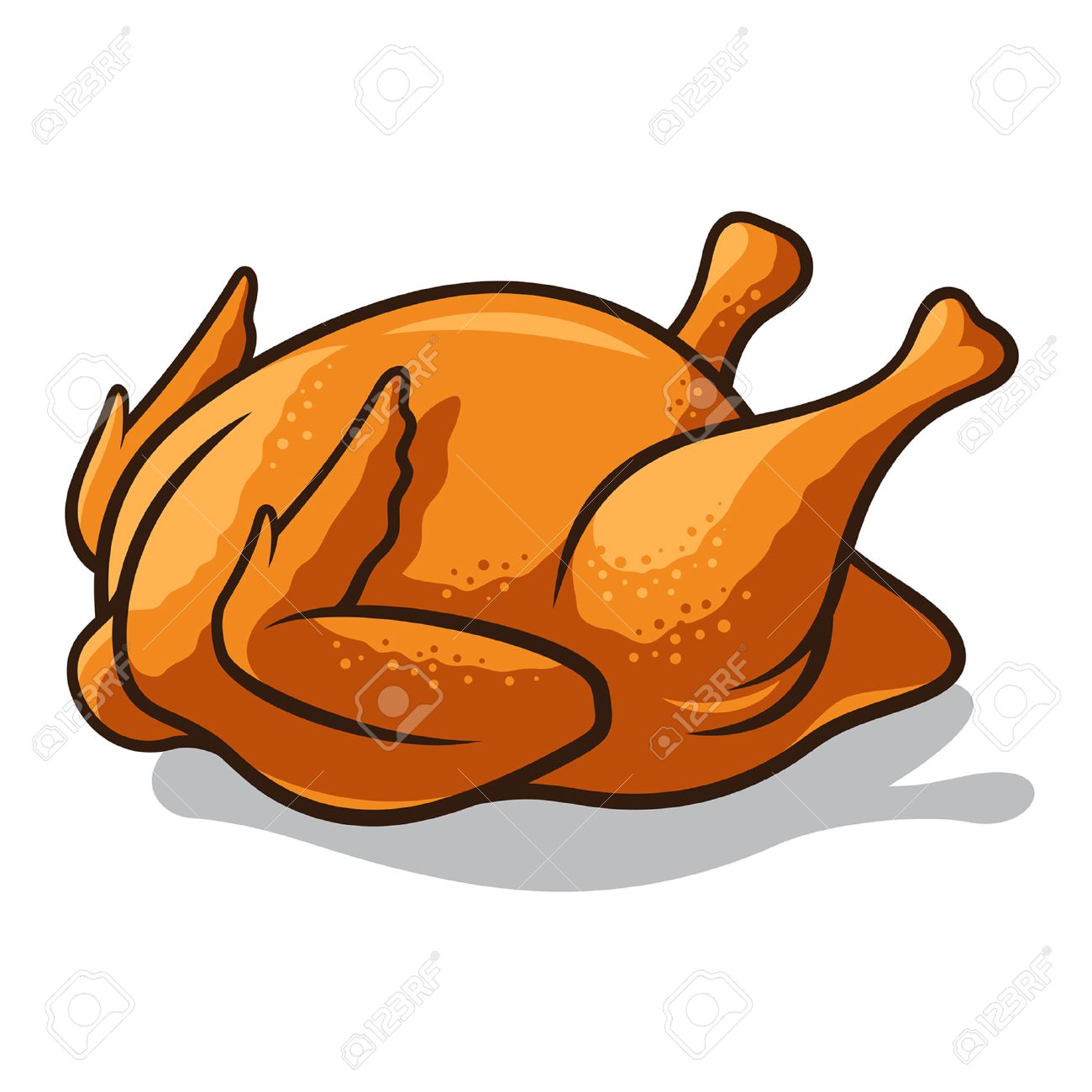 1300x1300 Clipart Of Fried Chicken