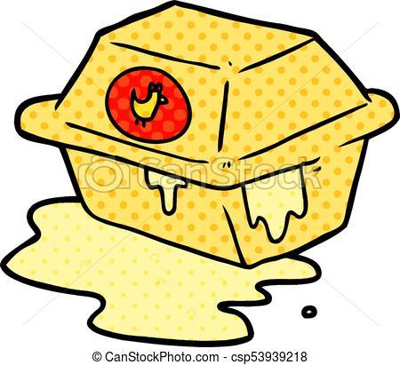 450x411 Cartoon Take Out Fried Chicken Vector Clip Art