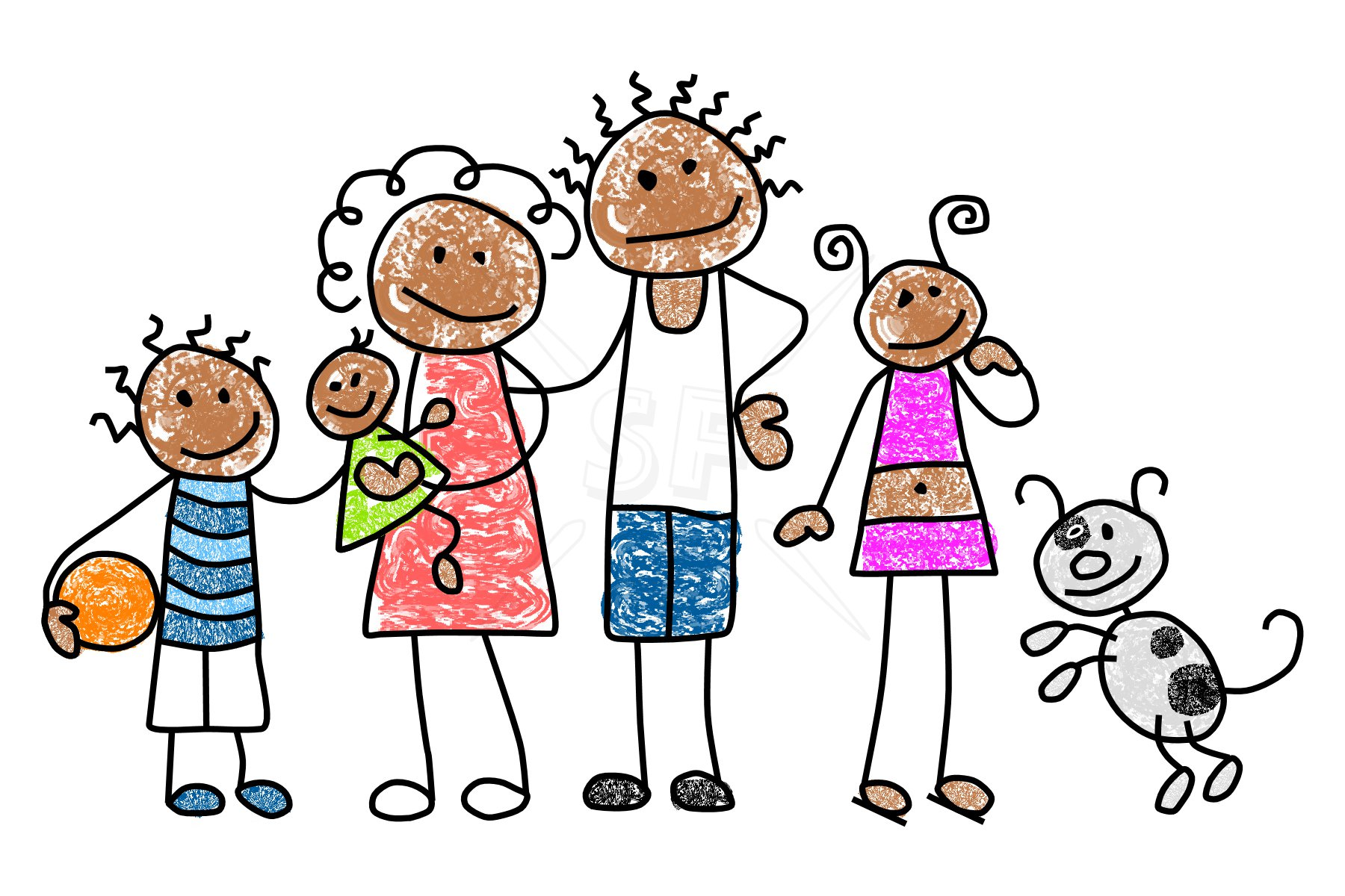 1800x1200 Family Of Clipart