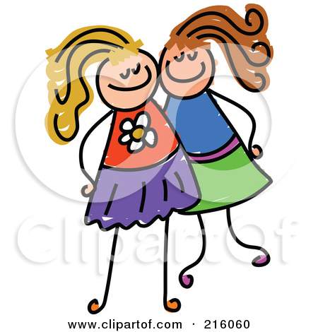 450x470 Girl Friends Clipart