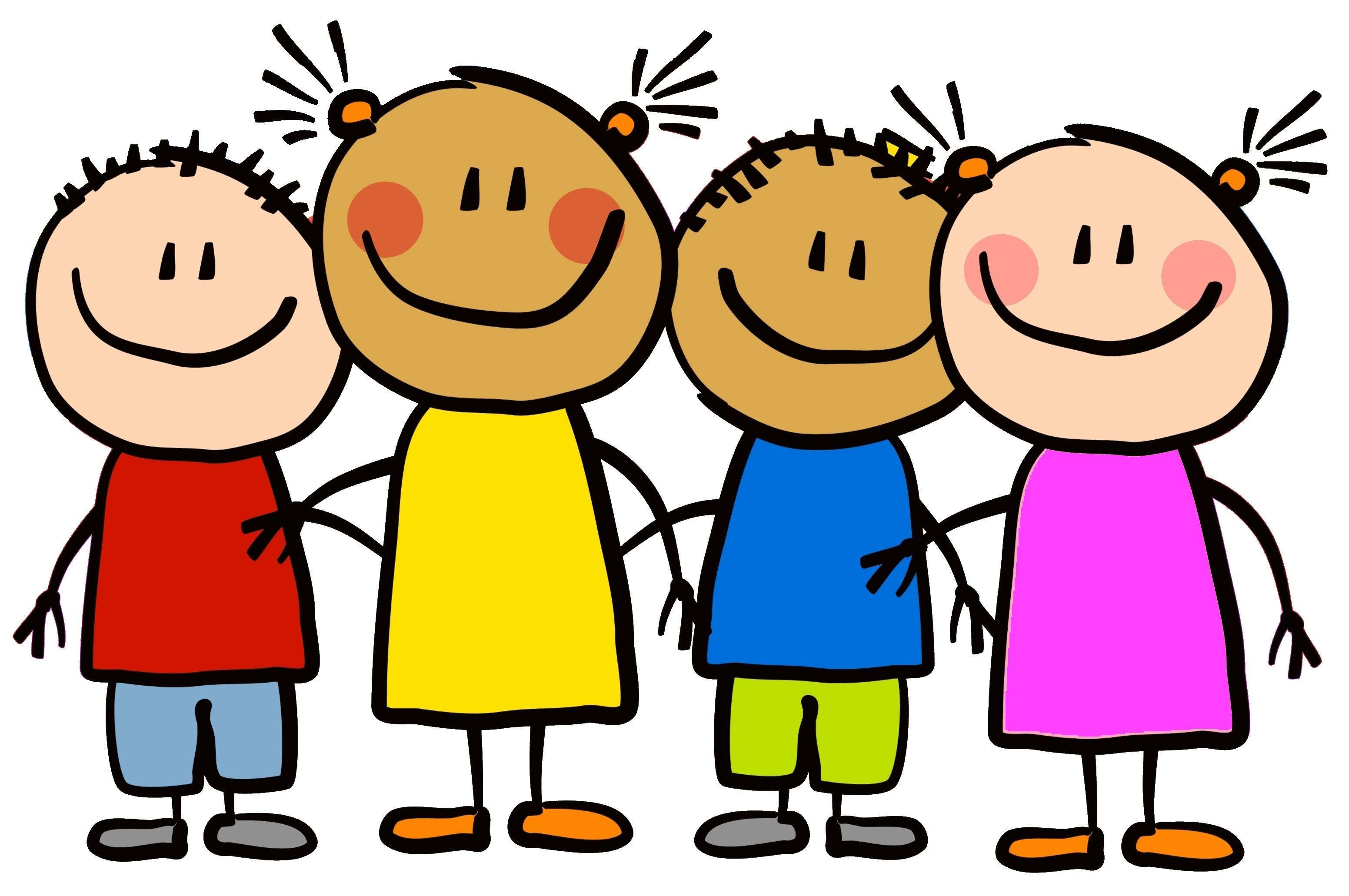 3103x2062 Kindergarten Friends Clipart.jpg Clipart For Cards