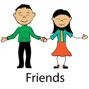 300x300 Cartoon Friendship Clipart