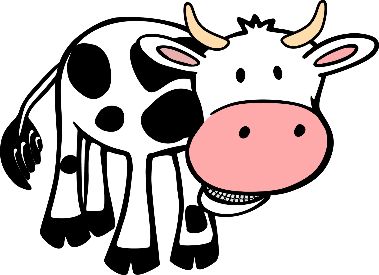 1600x1162 Holstein Friesian Cattle Thumbnail Clip Art