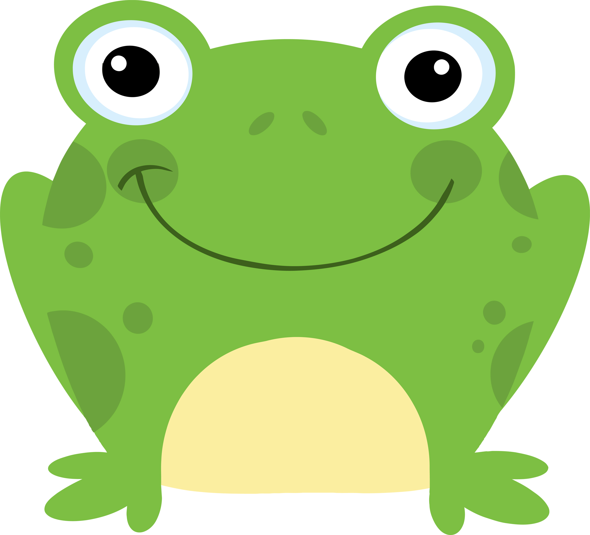2400x2179 Toad Clipart Two Frog'97435