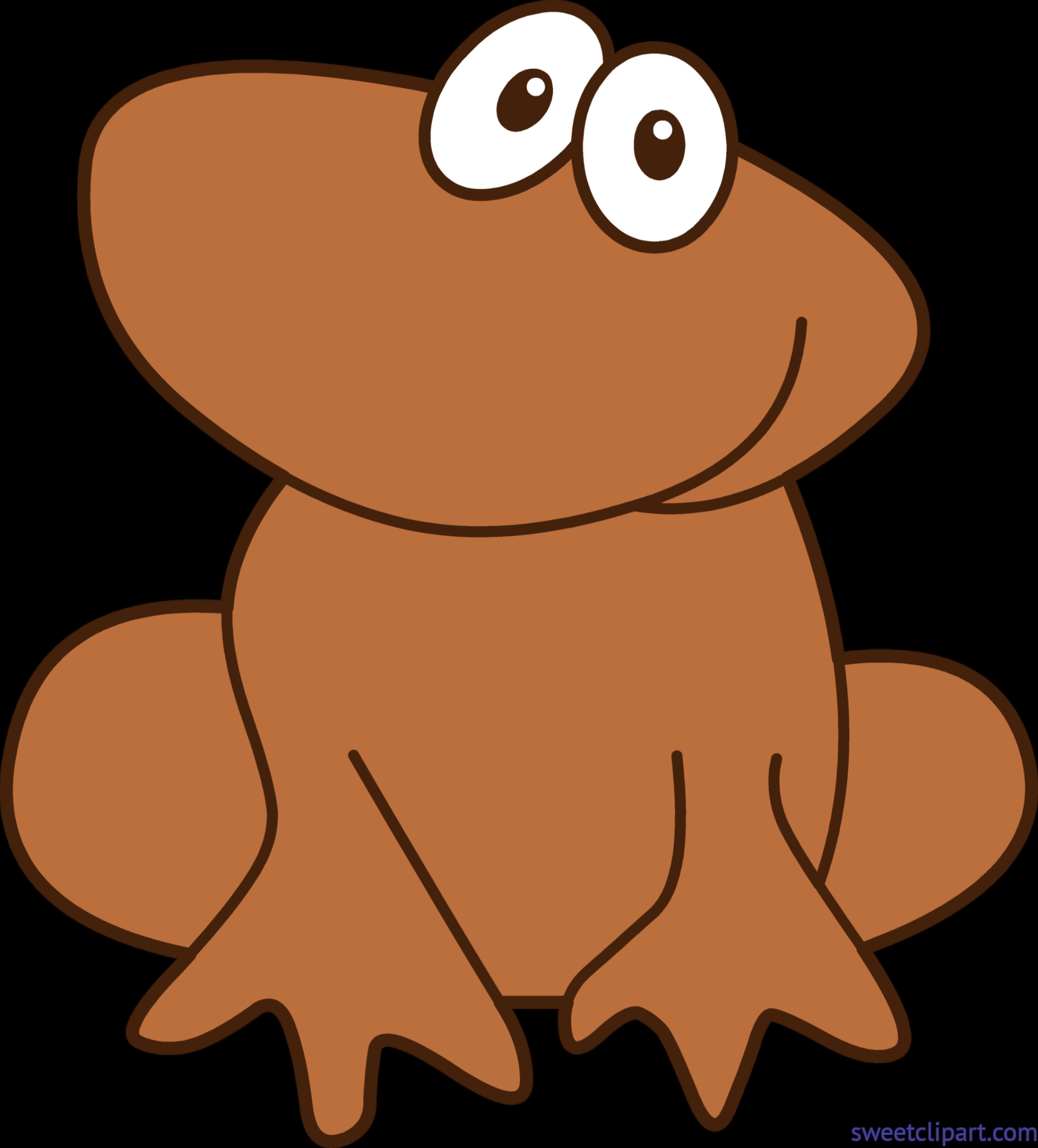 4336x4797 Frog 3 Brown Clip Art