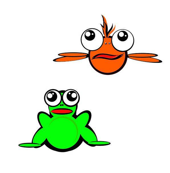 596x609 Fish, Angle, Cartoon, Animation, Frog, Cute, Cartoon Characters