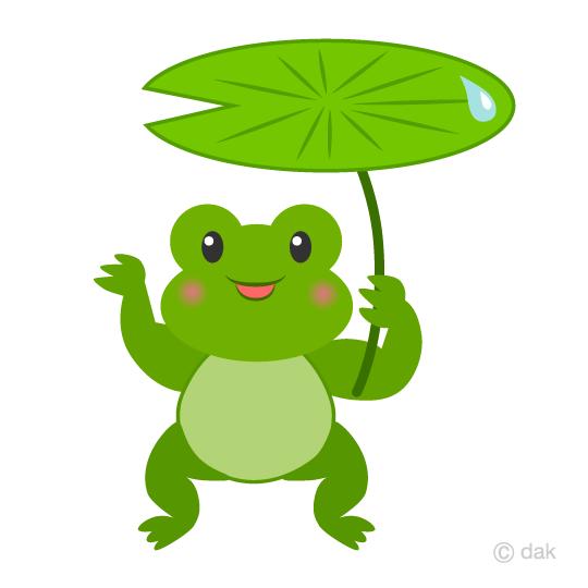 540x540 Free Frog To Umbrella The Leaves Clip Art Cartoon