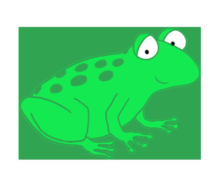 886x708 Frog Clip Art