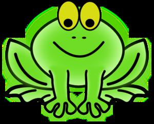 300x243 Bug Eyed Frog Clip Art