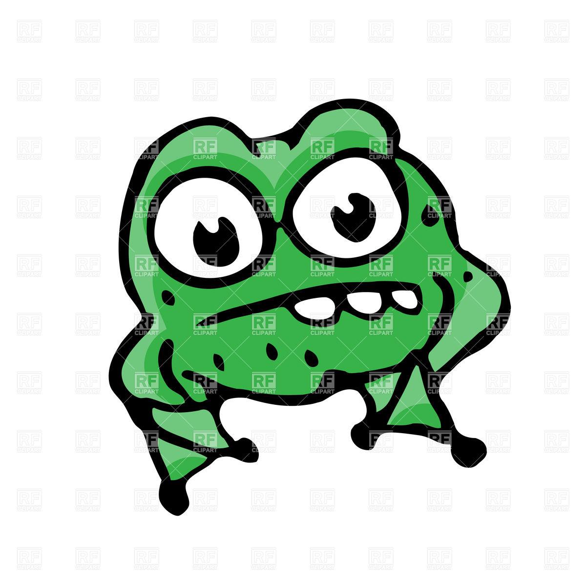 1200x1200 Cartoon Angry Frog Royalty Free Vector Clip Art Image
