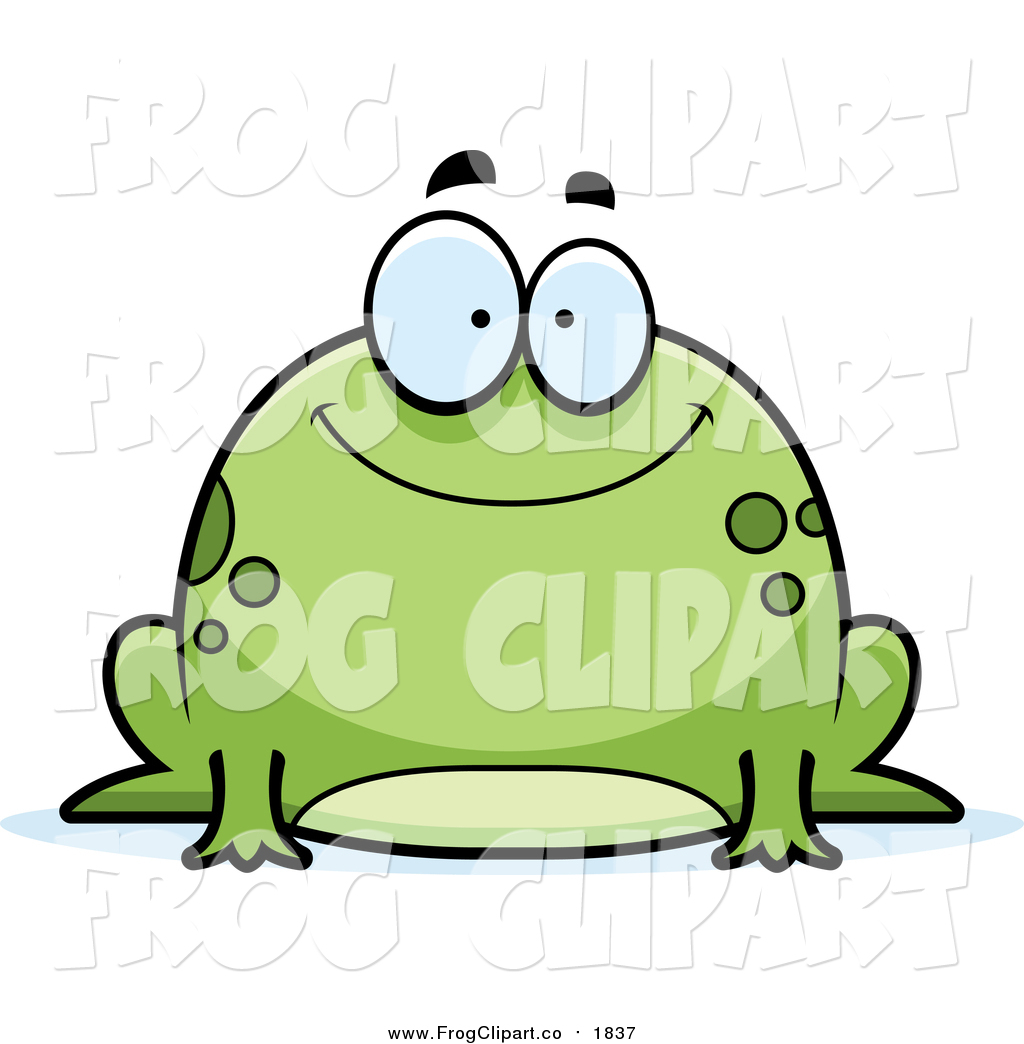 1024x1044 Clip Art Of A Chubby Happy Green Frog By Cory Thoman
