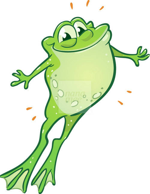 500x647 Jumping Frog Clipart