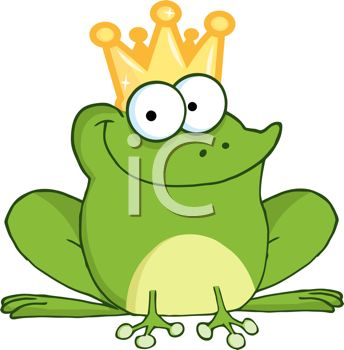 344x350 Picture Of A Happy Frog Wearing A Crown In A Vector Clip Art