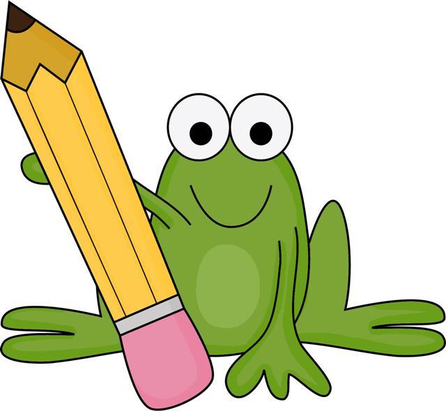 640x590 School Frog Clipart