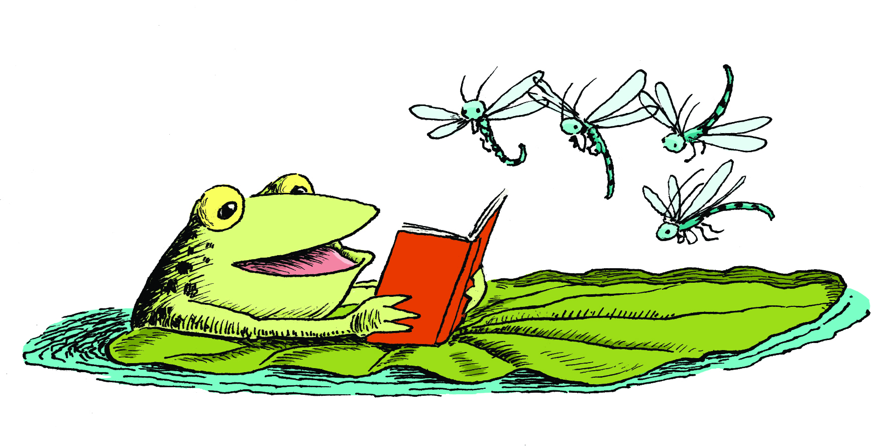 1734x888 Best Frog On Lily Pad Clipart