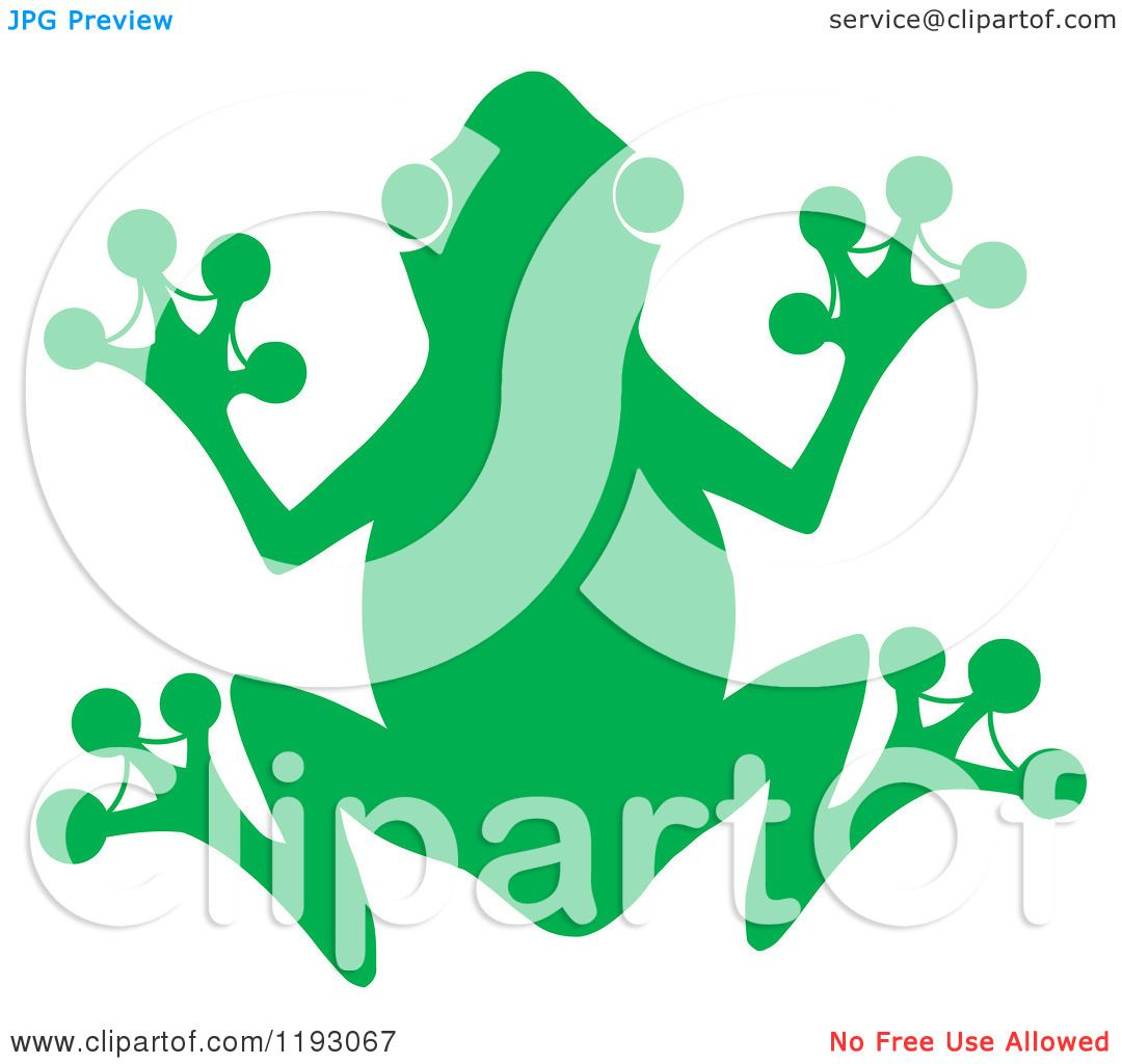 1080x1024 Cartoon Of A Green Silhouetted Frog