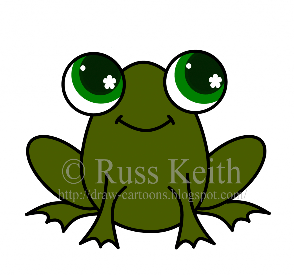 1024x957 How To Draw A Frog For Kids Cute Frog Drawing Free Download Clip