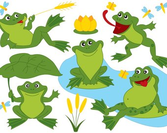 340x270 Frog Clipart Frogs Clip Art Lilypads Frogs Cat Tail Cute