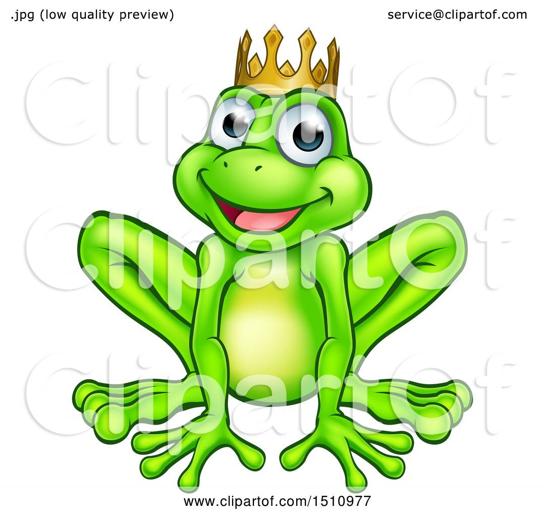 1080x1024 Clipart Of A Cartoon Happy Smiling Green Frog Prince
