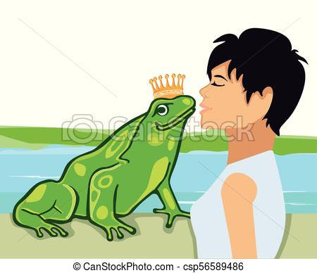 450x388 Frosch Kuss.eps. Kiss The Frog Prince Illustration Vector