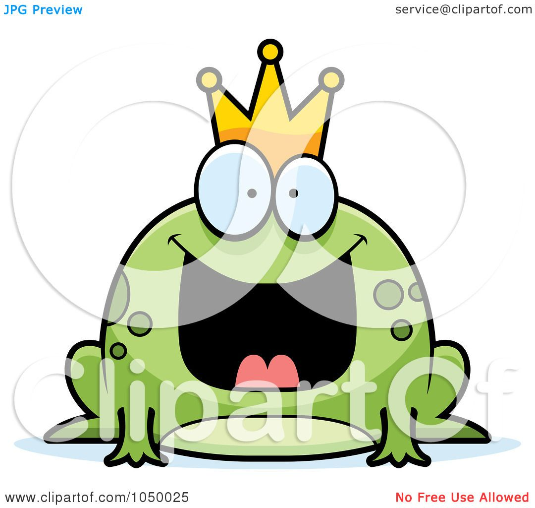 1080x1024 Royalty Free (Rf) Clip Art Illustration Of A Fat Frog Prince By
