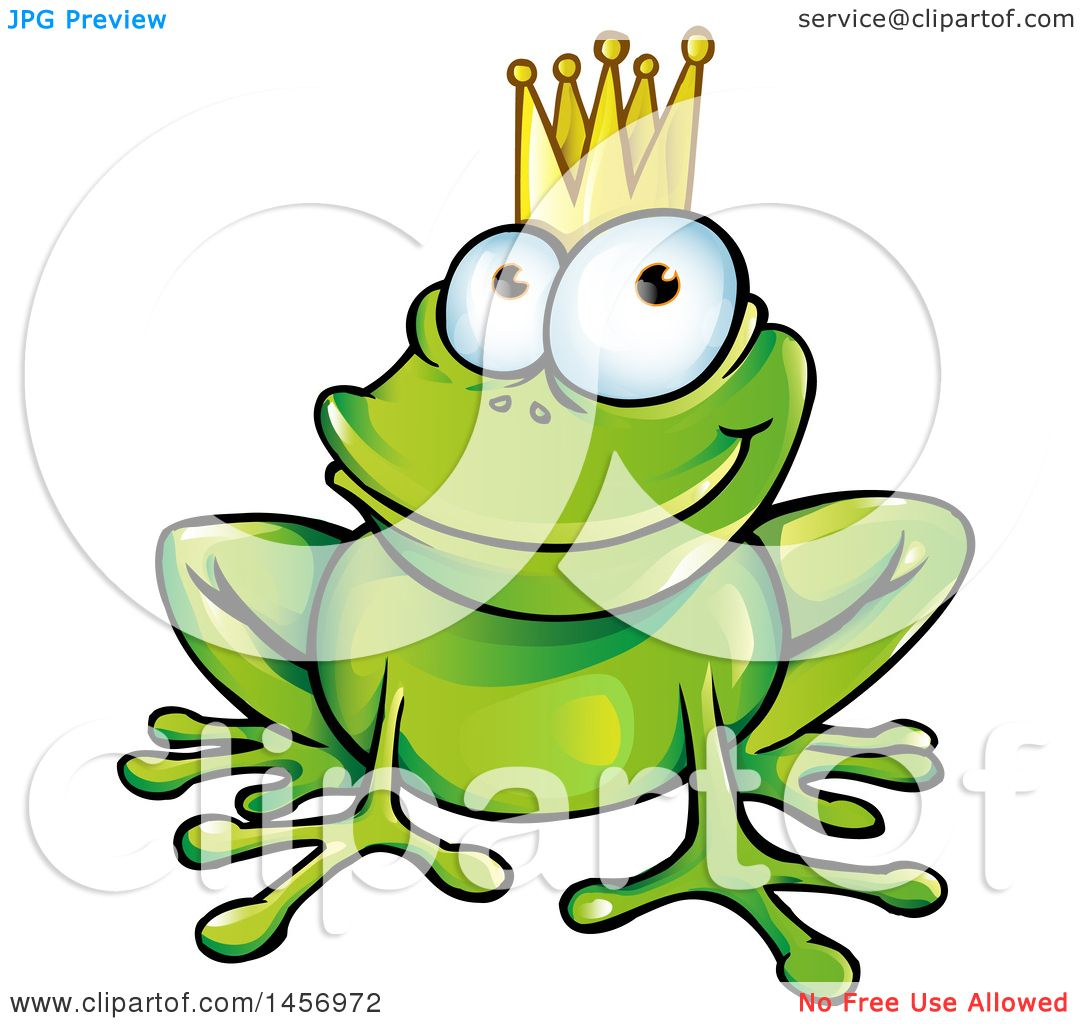 1080x1024 Cartoon Clipart Of A Prince Frog Wearing A Crown