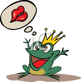 345x350 Royalty Free Clip Art Image Frog Prince Daydreaming About Being