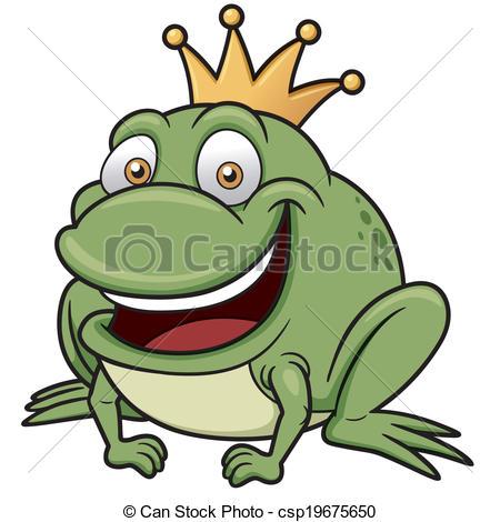 450x470 Vector Illustration Of Cartoon Frog Prince Clipart Vector