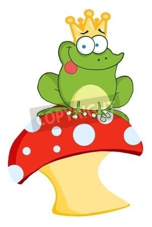 302x450 Happy Frog Prince On A Toadstool Or Mushroom