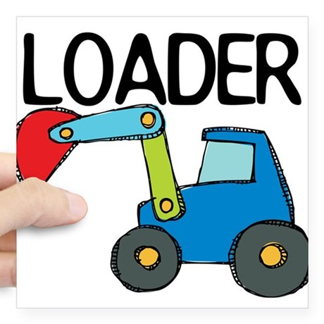 460x460 Front End Loader Stickers