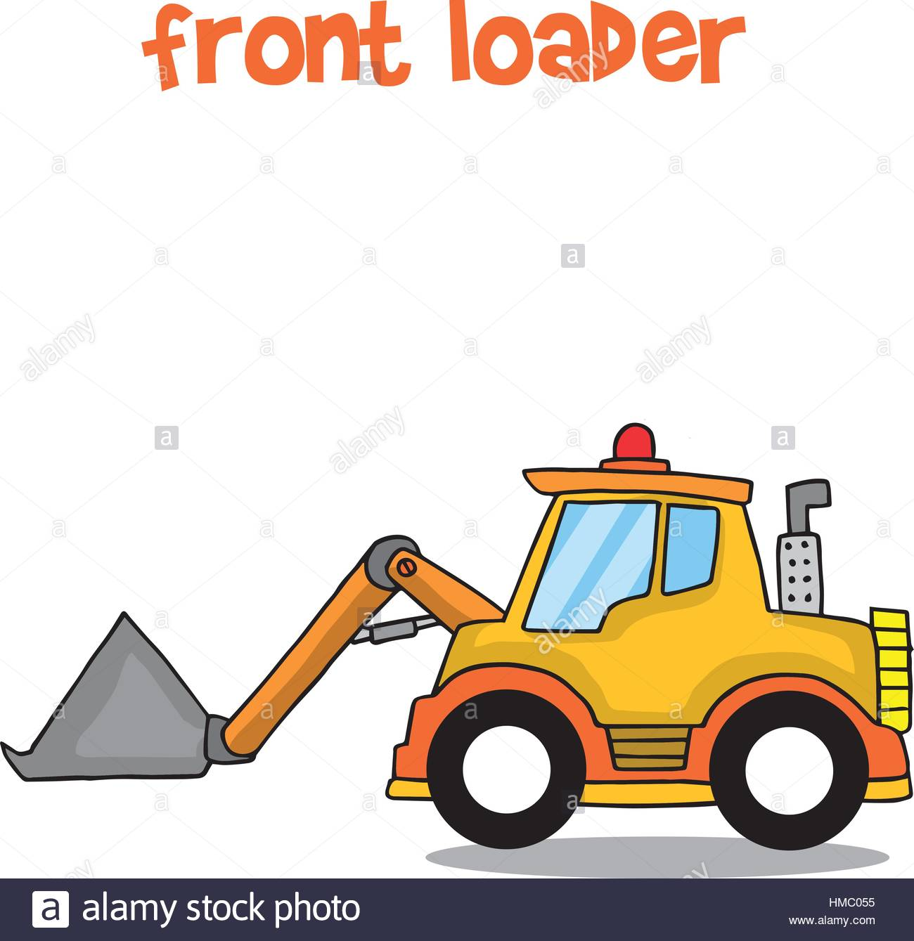 1300x1339 Front Loader Stock Vector Images
