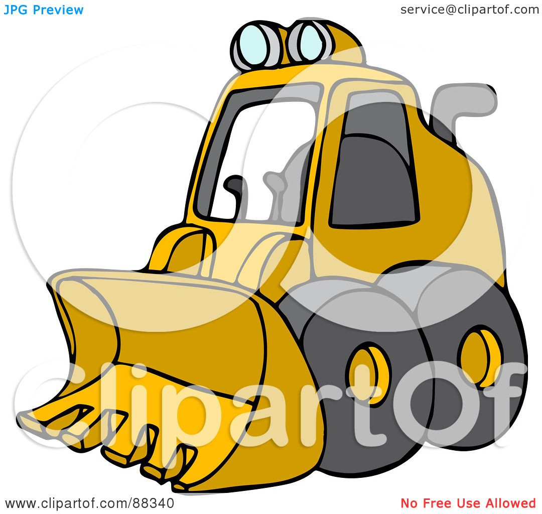 1080x1024 Royalty Free (Rf) Clipart Illustration Of A Parked Yellow Mini