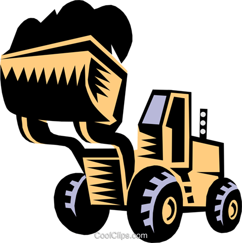 478x480 Heavy Equipmentfront End Loader Royalty Free Vector Clip Art