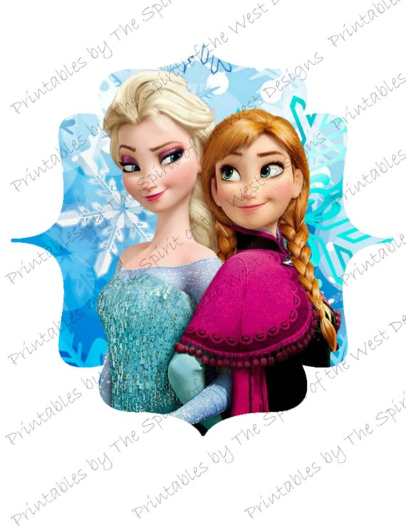 570x738 Disney Frozen Elsa And Anna Clip Art Good For Iron On Transfers