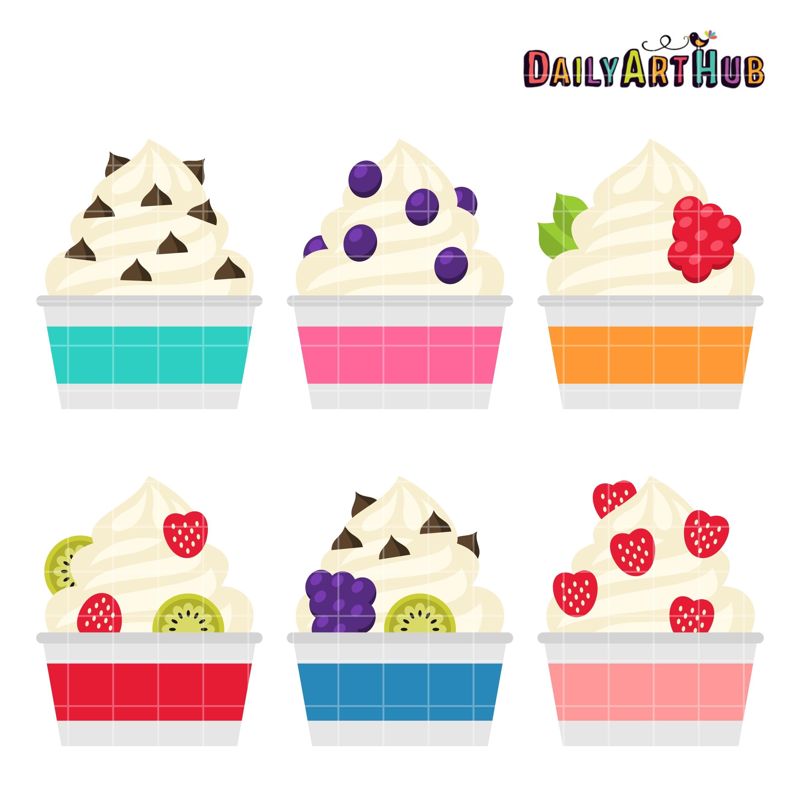 2664x2670 Frozen Yogurt Clip Art Set Daily Hub Free Everyday Adorable
