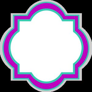 300x300 Decorative Frame Frozen Colors Clip Art