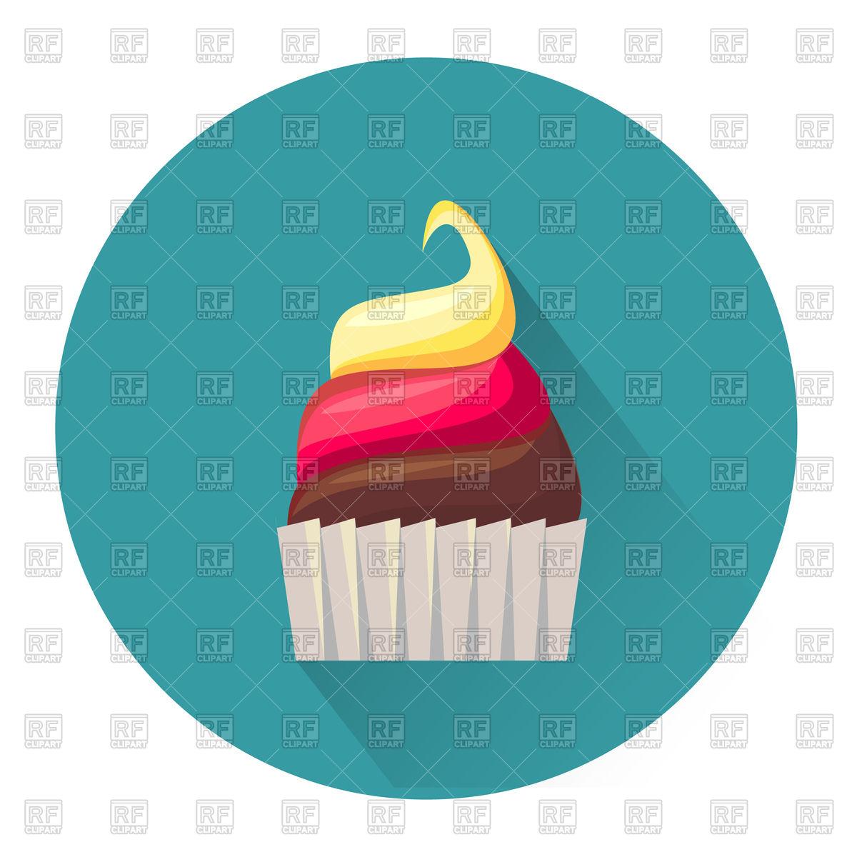 1200x1200 Cartoon Dessert Cake Icon Royalty Free Vector Clip Art Image