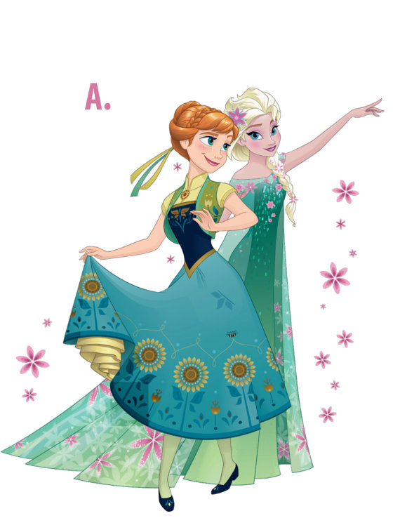 570x738 Frozen Fever Wall Decals